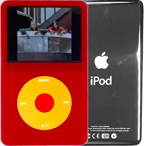 New Apple iPod Video Classic 5th & 5.5 Enhanced Red / Yellow / Red