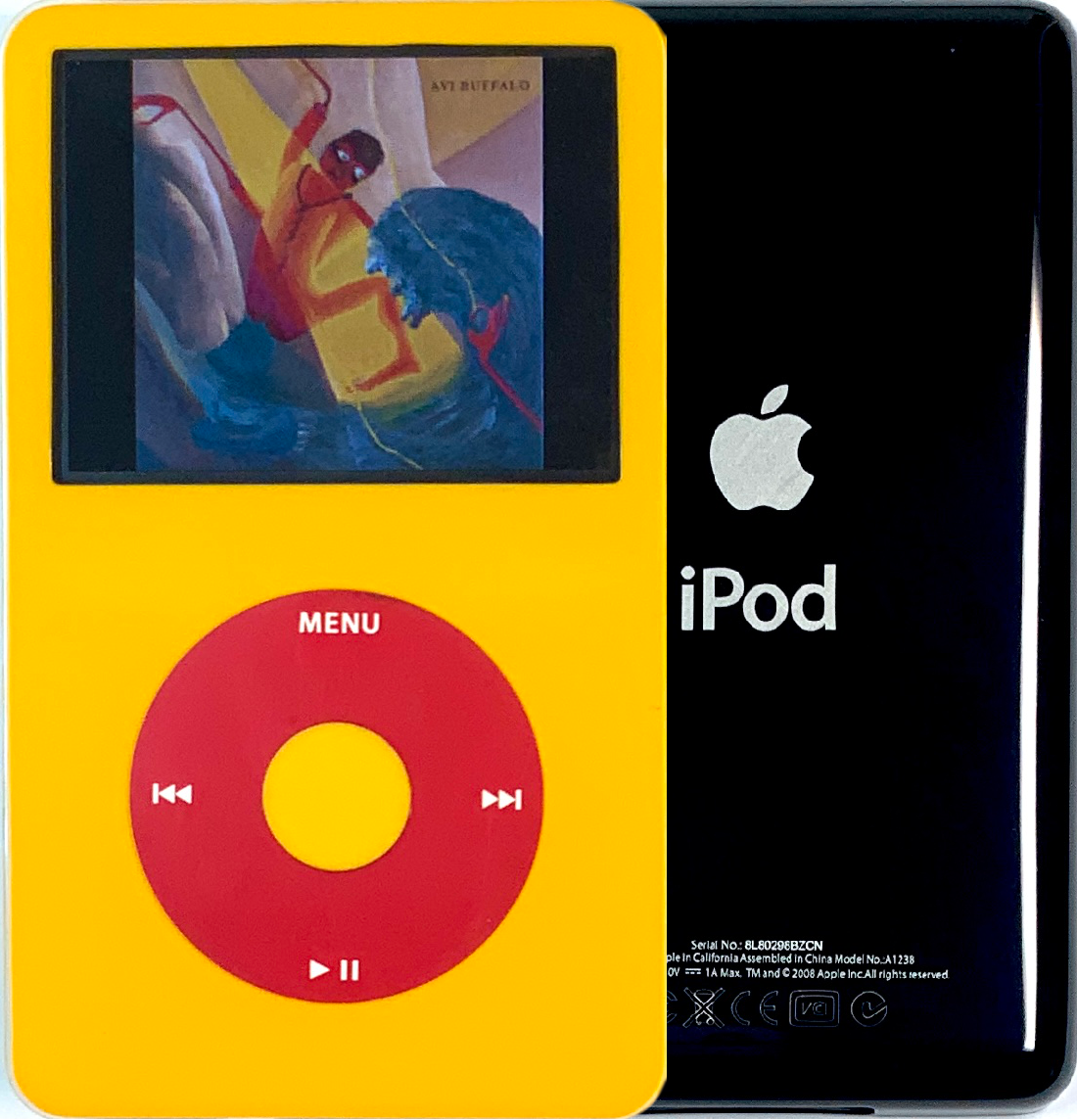 New Apple iPod Video Classic 5th & 5.5 Enhanced Yellow / Red / Yellow (Black)