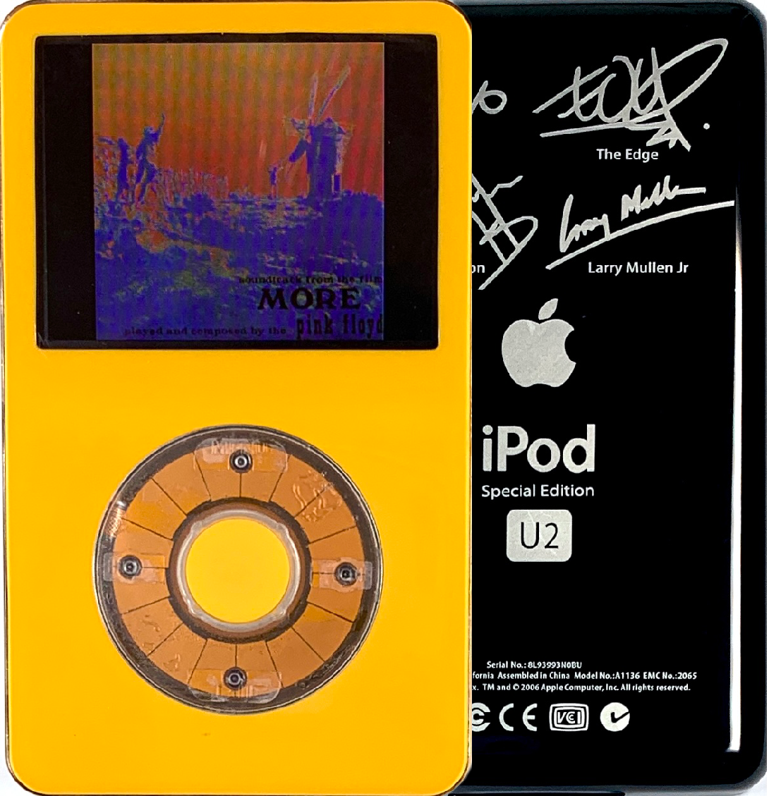 New Apple iPod Video Classic 5th & 5.5 Enhanced Yellow / Transparent / Yellow (U2 Special Edition Black)