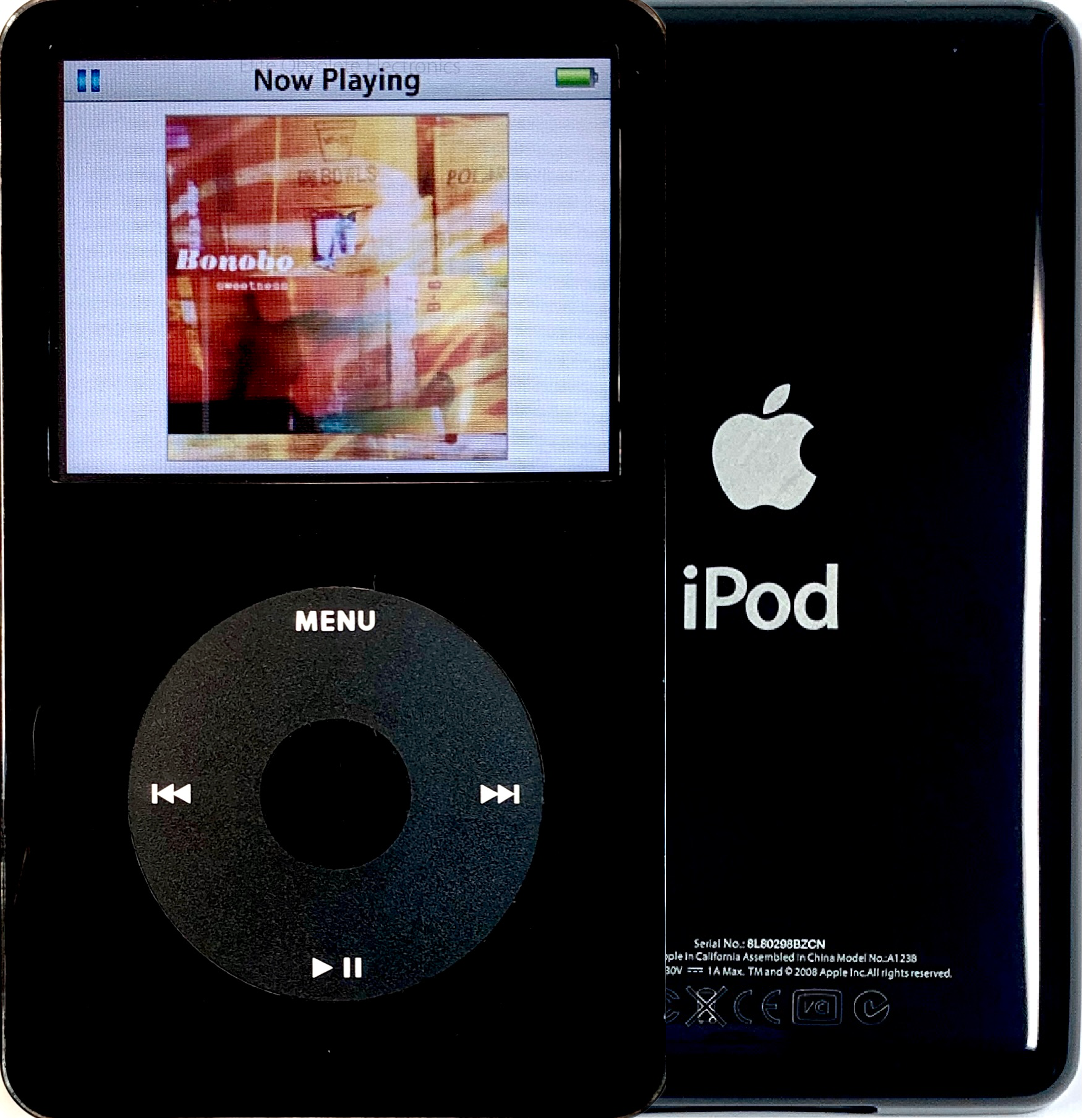 New Apple iPod Video Classic 5th & 5.5 Enhanced Black / Black / Black (Black)