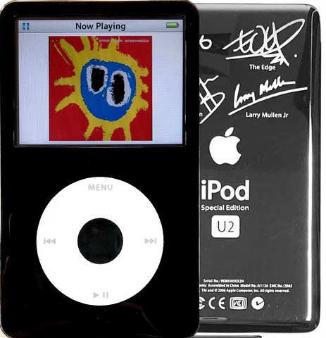 New Apple iPod Video Classic 5th & 5.5 Enhanced Black / White / Black (U2 Special Edition Silver)