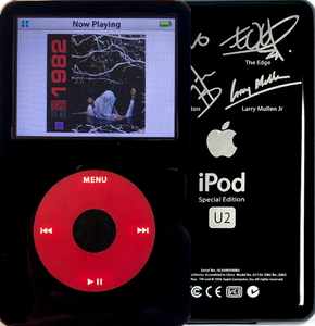 New Apple iPod Video Classic 5th & 5.5 Enhanced Black / Red / Black (U2 Special Edition Black)