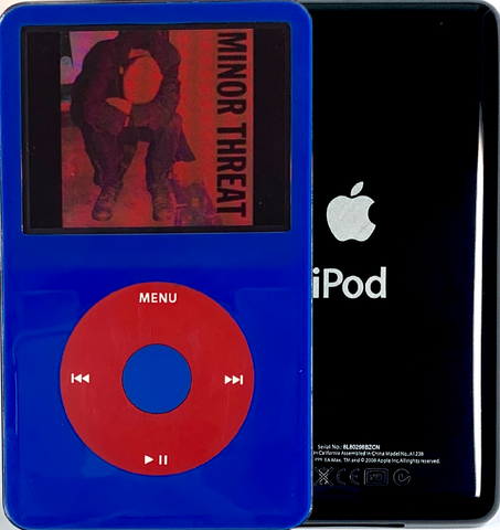 New Apple iPod Video Classic 5th & 5.5 Enhanced Blue / Red / Blue (Black)