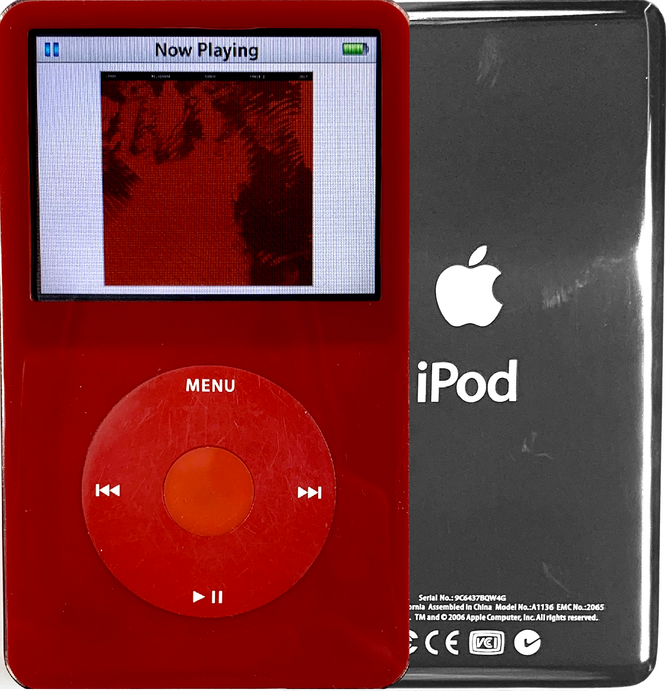 New Apple iPod Video Classic 5th & 5.5 Enhanced Red / Red / Red
