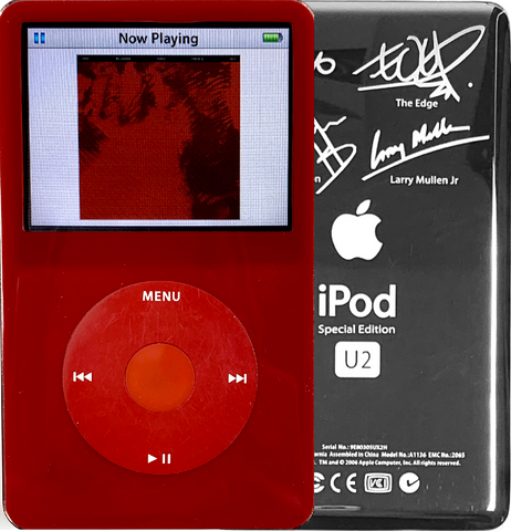 New Apple iPod Video Classic 5th & 5.5 Enhanced Red / Red / Red (U2 Special Edition Silver)