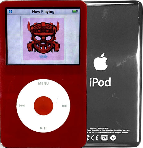 New Apple iPod Video Classic 5th & 5.5 Enhanced Red / White / Red