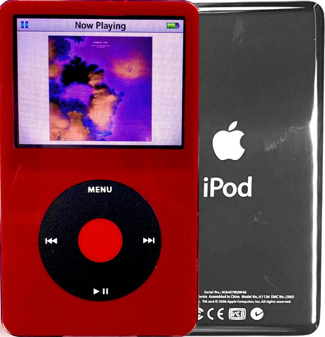New Apple iPod Video Classic 5th & 5.5 Enhanced Red / Black / Red