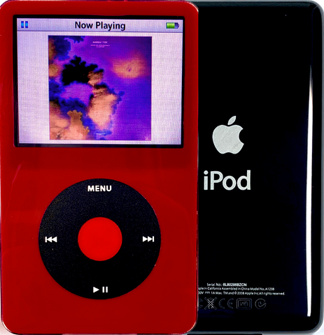 New Apple iPod Video Classic 5th & 5.5 Enhanced Red / Black / Red (Black)