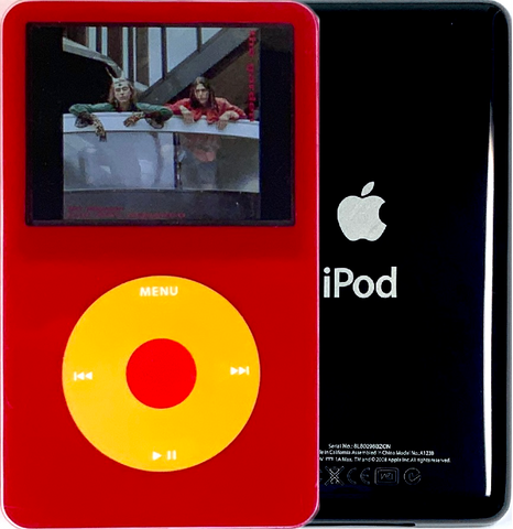 New Apple iPod Video Classic 5th & 5.5 Enhanced Red / Yellow / Red (Black)