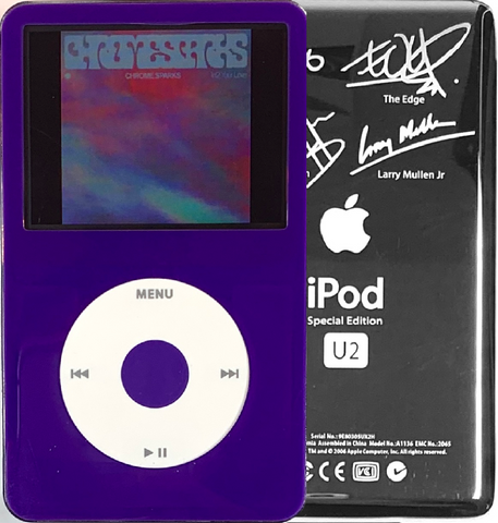 New Apple iPod Video Classic 5th & 5.5 Enhanced Purple / White / Purple (U2 Special Edition Silver)