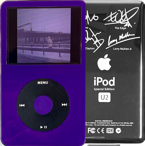 New Apple iPod Video Classic 5th & 5.5 Enhanced Purple / Black / Purple (U2 Special Edition Silver)