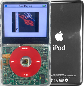 New Apple iPod Video Classic 5th & 5.5 Enhanced Transparent / Red / Transparent