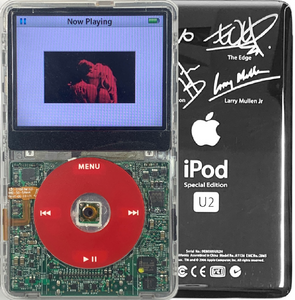 New Apple iPod Video Classic 5th & 5.5 Enhanced Transparent / Red / Transparent (U2 Special Edition Silver)