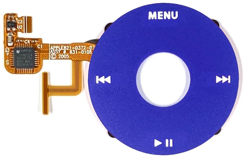 Blue Click Wheel Flex for Apple iPod Video 5th & 5.5 Enhanced