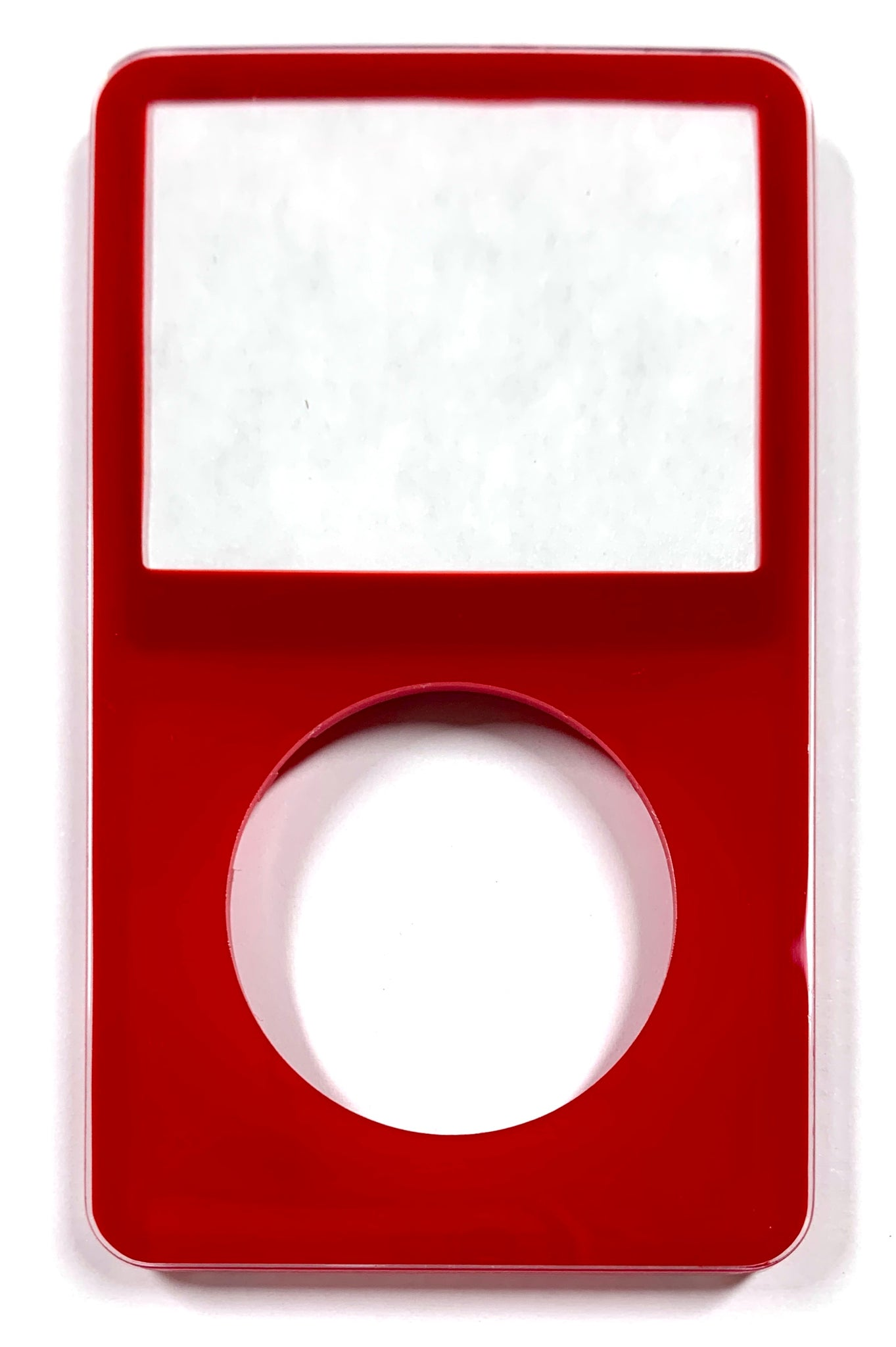 Red Faceplate For Apple iPod Video 5th & 5.5 Generation Plastic