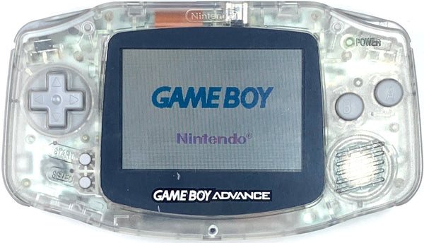 New Nintendo GameBoy Advance AGB-001 Custom Transparent Clear White Grey