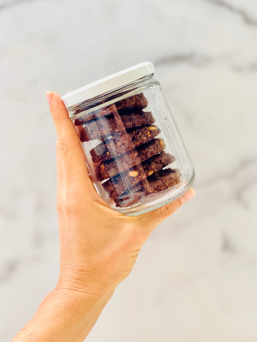 Paleo Vegan Double Chocolate Chip Cookies with Hazelnuts (jar of 6)