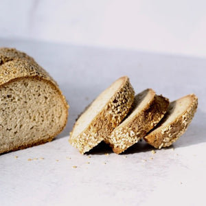 KETO, Gluten Free Bread - Sesame Seed (pack of 2 Loaves of 17oz/480g ea)