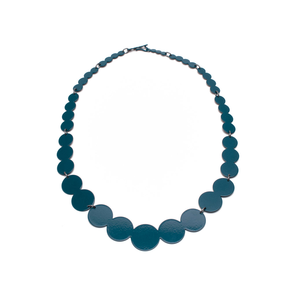 Pearl Silhouette Collar, Teal