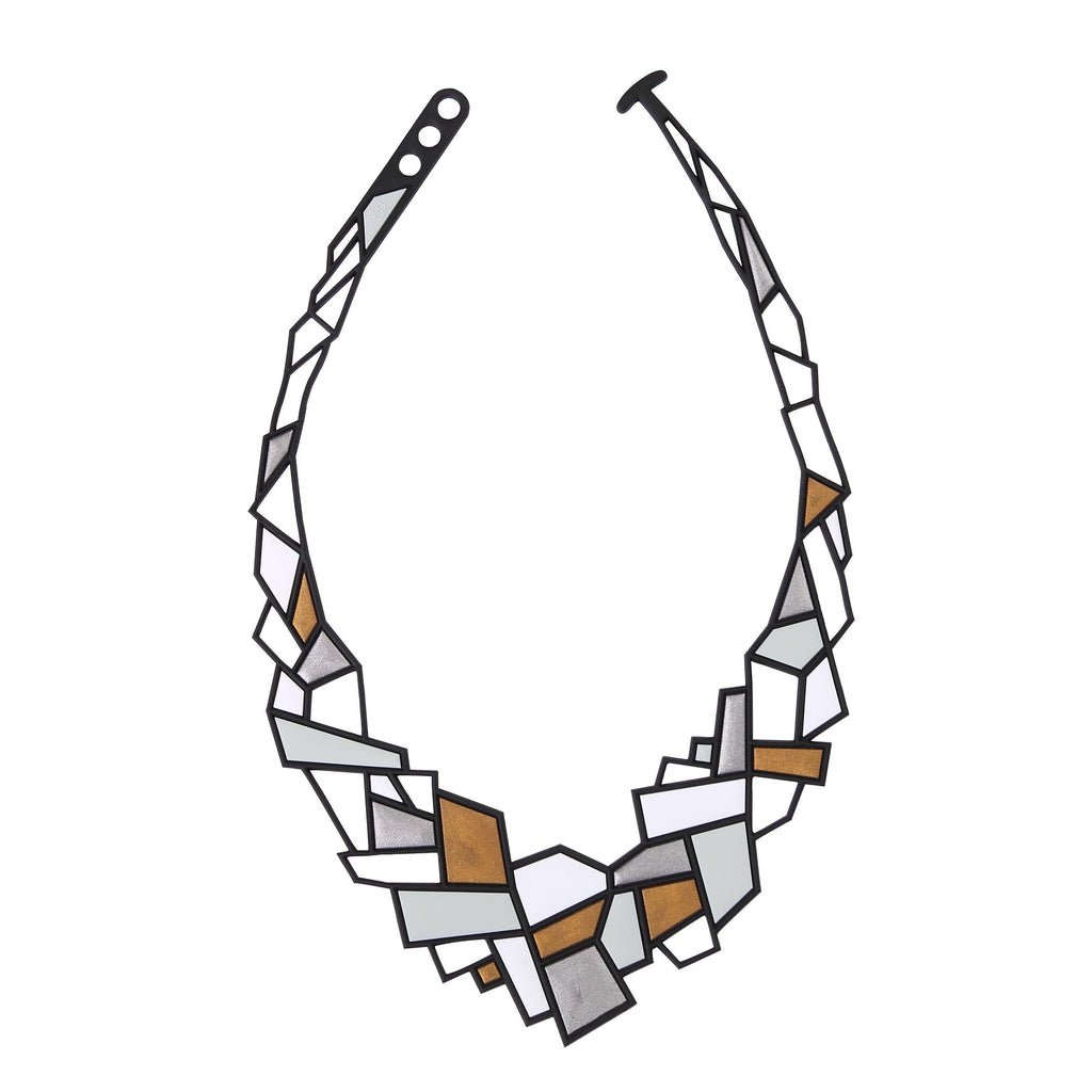 Prism Necklace, Silver & Gold