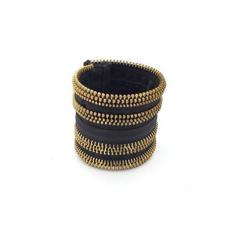 Black & Gold Band Cuff