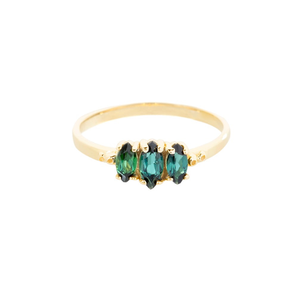 Rosa Ring, Teal