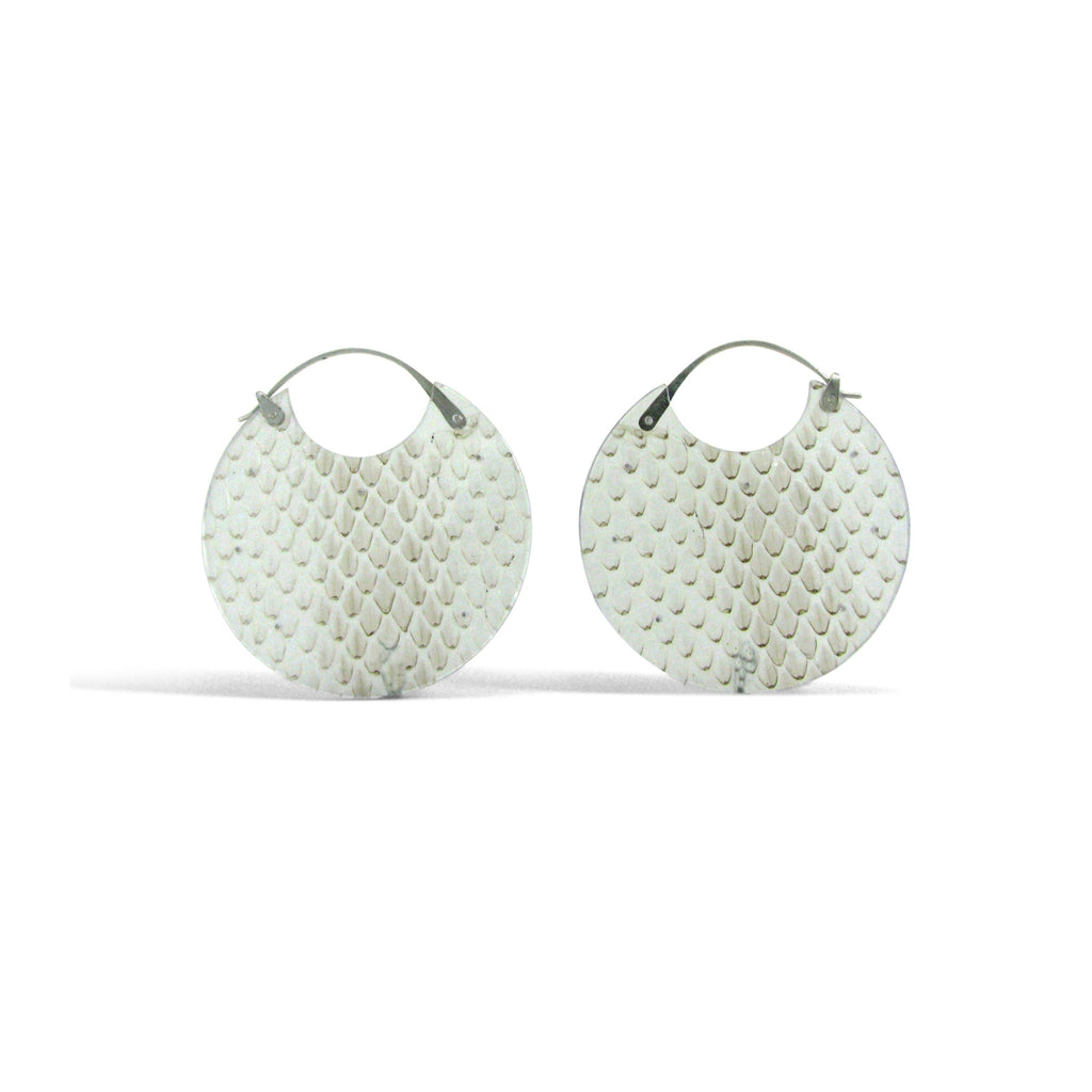 Snakeskin Encasement Earrings, Large