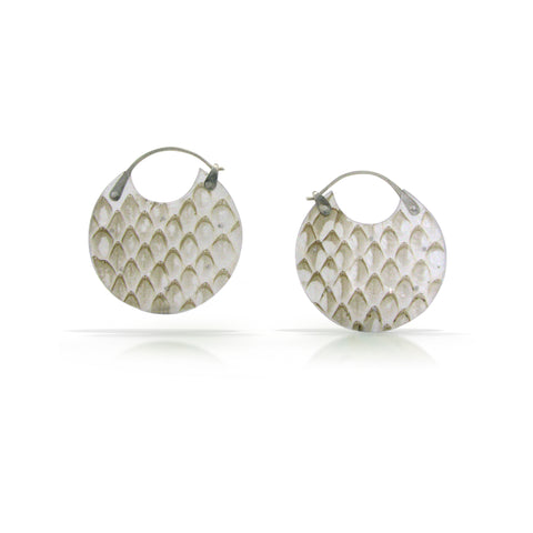 Snakeskin Encasement Earrings, Small