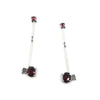 Garnet Stick Earrings