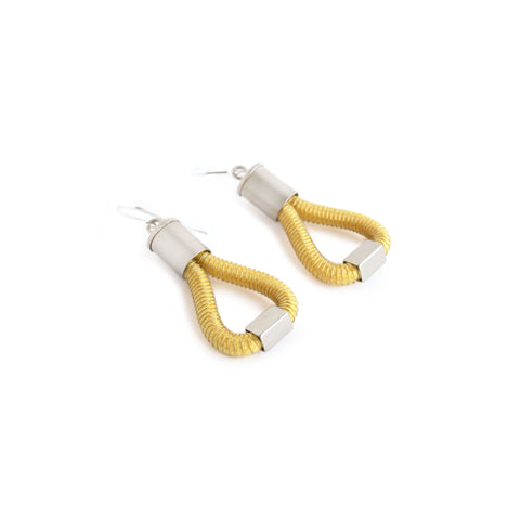 Molly Earrings, Yellow