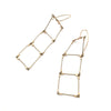 Ladder Earrings, Gold