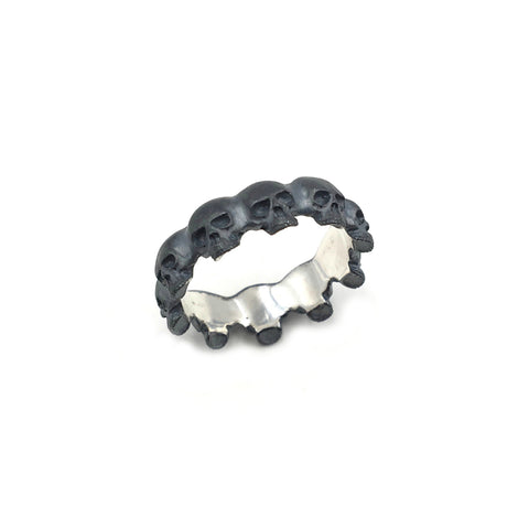Silver Skull Eternity Band