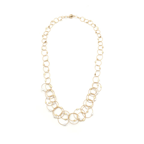 Mini Interlock Pearl Necklace