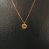 Gold Octagon Necklace, Opal