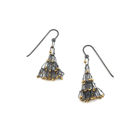 Five Tier Cascade Drop Earrings