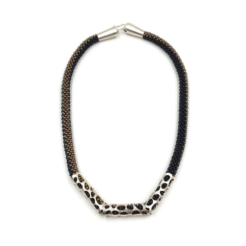 Black & Bronze Membrane Necklace