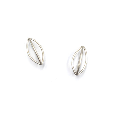 Silver Pod Earrings, Medium