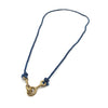 Sister Clasp Necklace, Indigo Cord