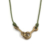 Sister Clasp Necklace, Moss Cord