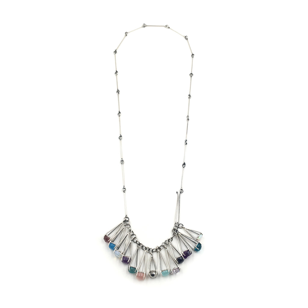 Long Multi Dangle Prong Necklace