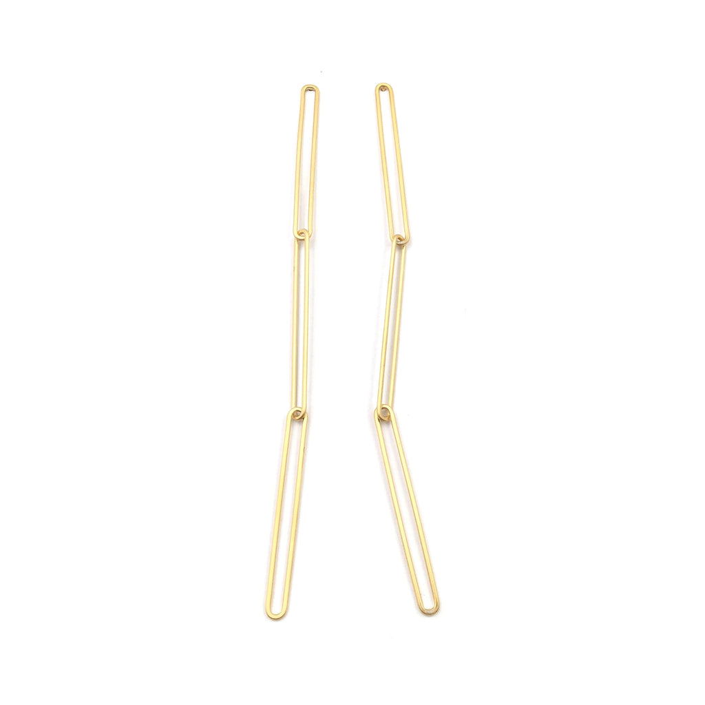Triple Link Studs, Gold