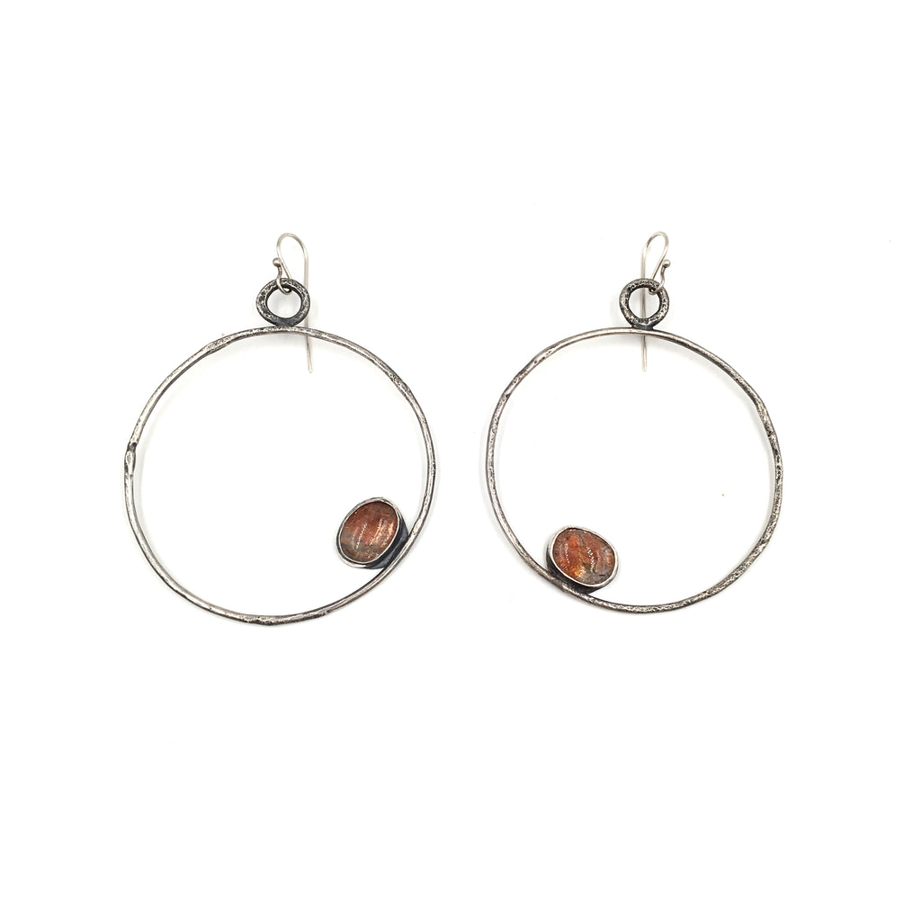 Sunstone Circle Earrings