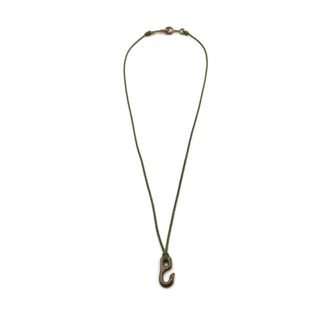 Cygnet Hook Necklace, Bronze, Moss Cord