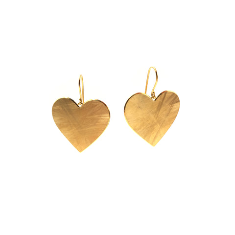 Scratchy Heart Earrings, Large