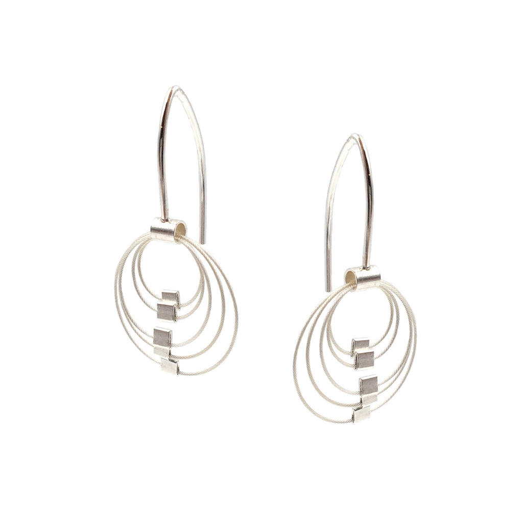 Mini Grad Circle Hooks, Silver