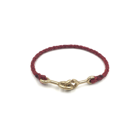 Sister Clasp Bracelet, Red Cord
