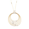 Grad Circle Necklace, Gold/Silver