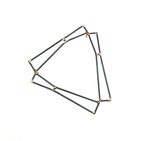 Triple Strut Brooch