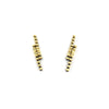 Short Line Earrings, Gold