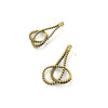 Loop Earrings, Gold